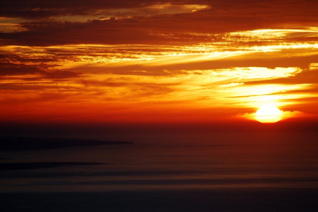 Sunset from Mirador Del Rio