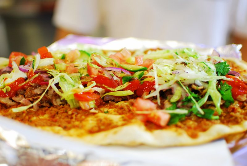 Berlin: Best Cheap Eats - Lahmacun topped with salad