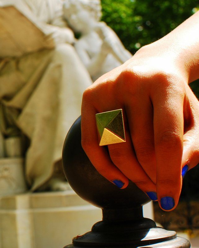 Geometric Ring Fashion