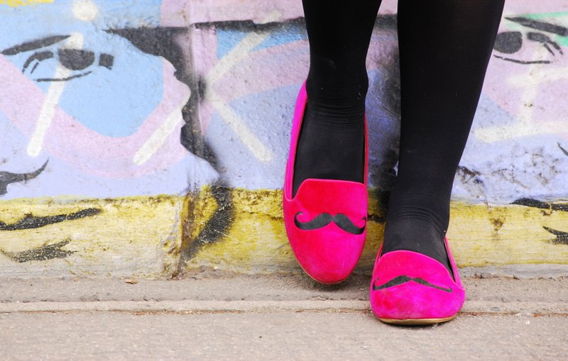 Moustache loafers