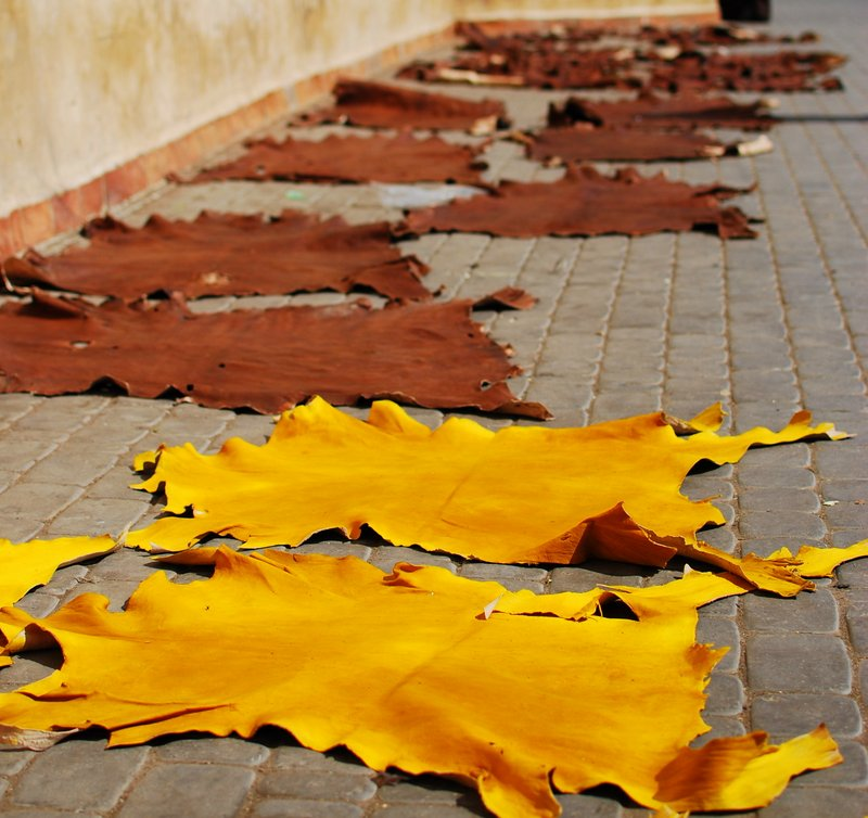 Marrakech Souk Guide - Dyed Leather