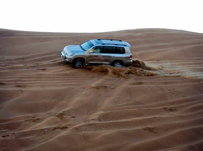 Offbeat Dubai Dune Bashing in the Arabian Desert.