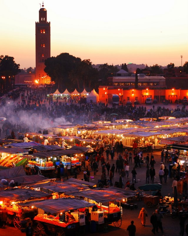 Marrakech things to do food market