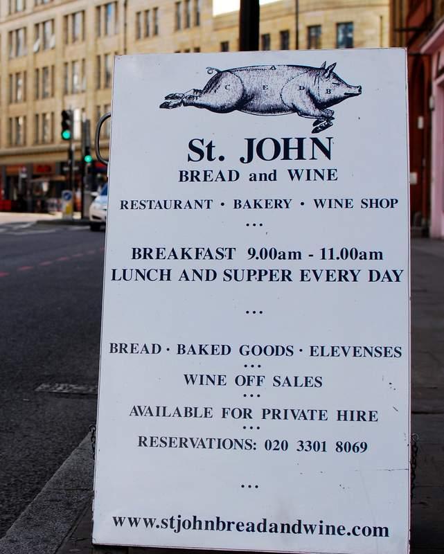 Eating London Food Tour St John