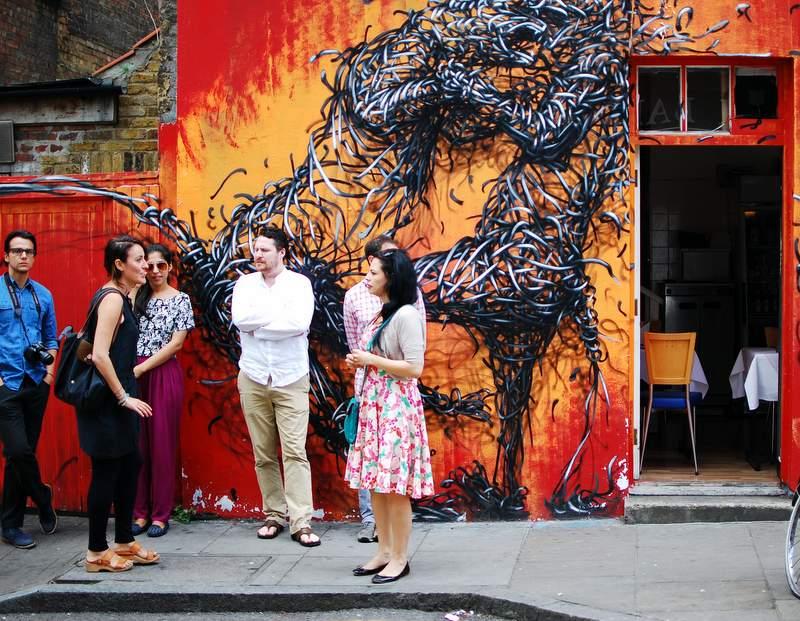 Eating London Food Tour street art