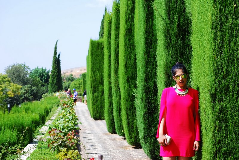 Red zara dress Spain