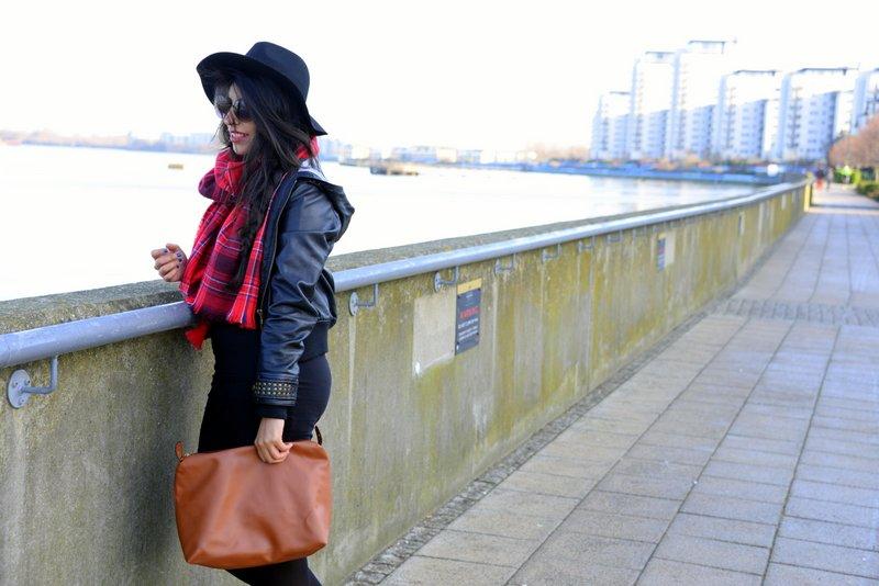 Travel Fashion Tartan trend leather jacket