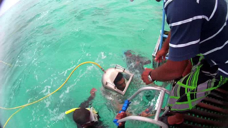 undersea walk mauritius Captain Nemo