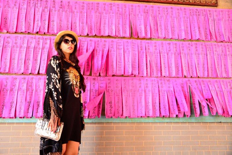Travel Fashion in Vietnam Kimono