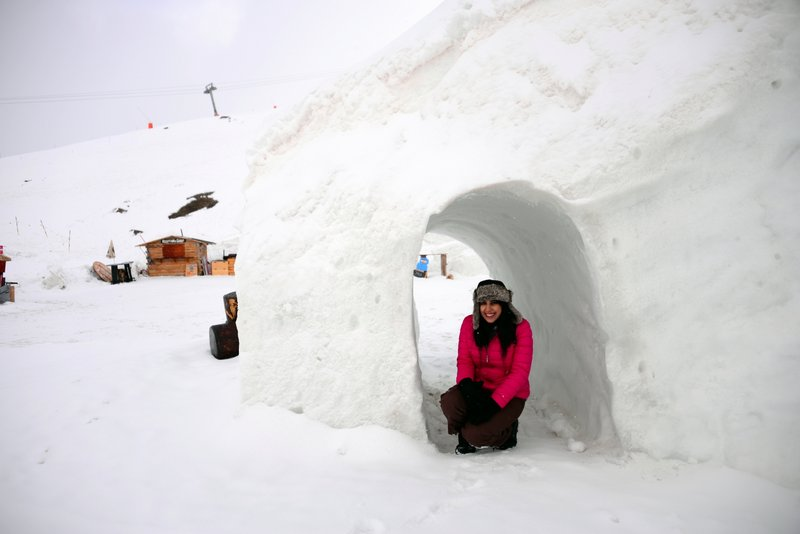 Staying in an actual igloo village is so much fun