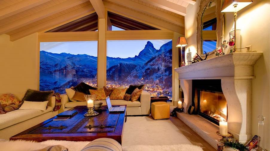 Chalet in Zermatt with a view of Matterhorn