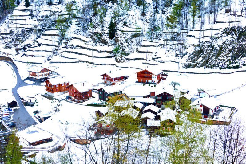 A typical Swiss village- perfect as per usual