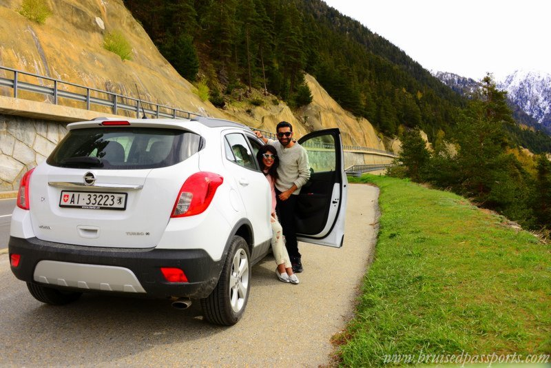 road trip in Switzerland