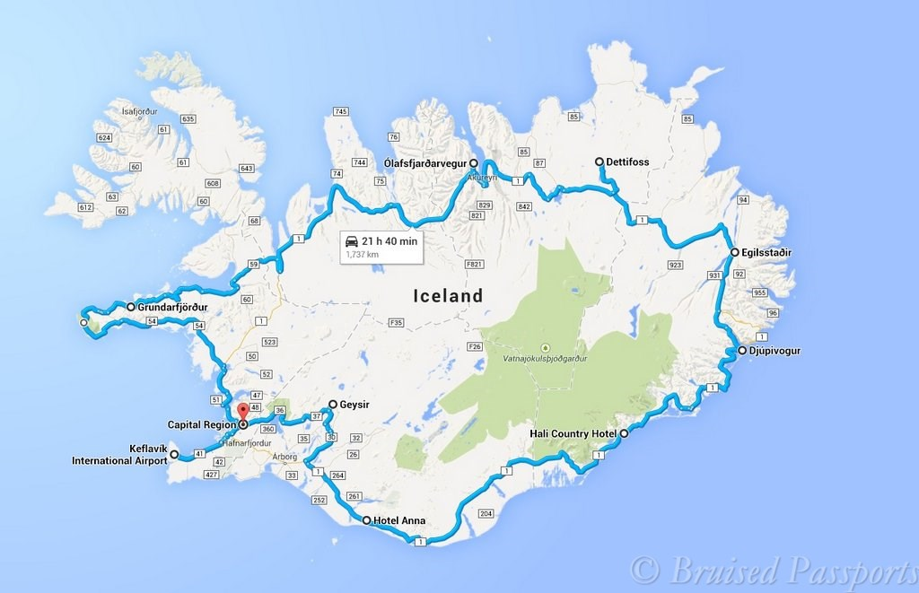 Iceland Road Trip Planning Tips And Itinerary Bruised Passports