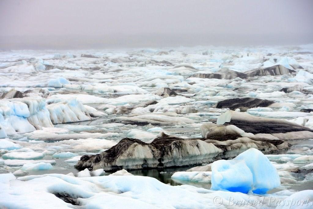 Jokulsarlon glacier on a road trip through Iceland