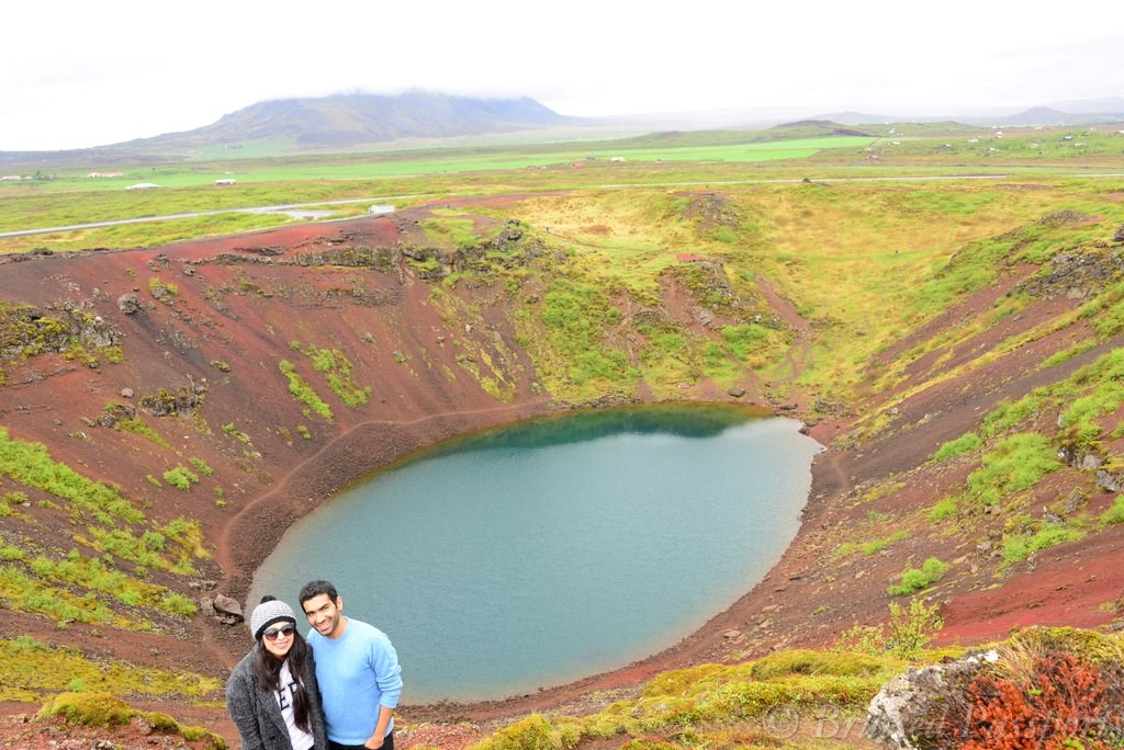 Volcanic Lake Kerid as part of the Iceland road trip