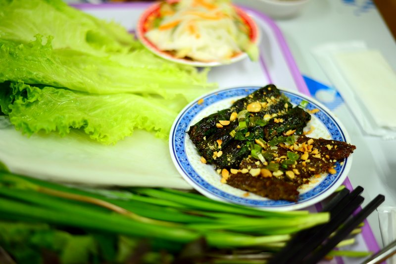 street food of vietnam bo la lot