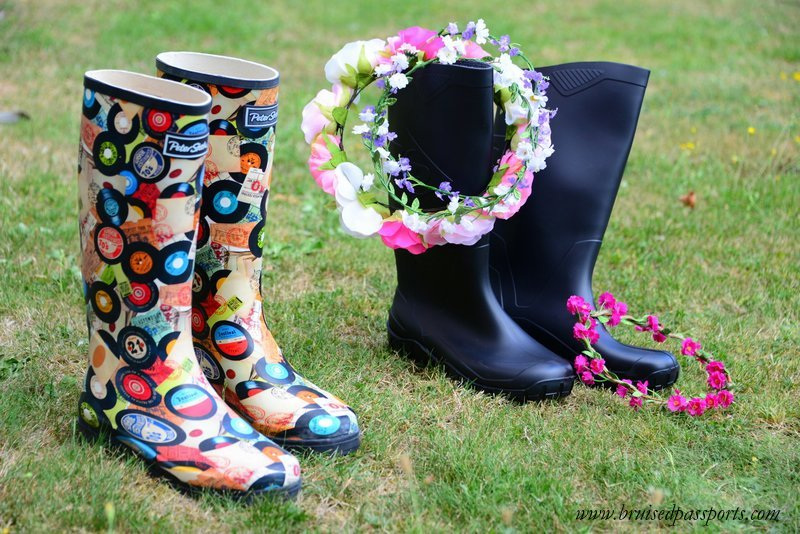 guide to packing for a music festival wellies