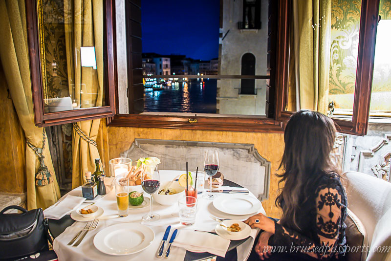 Dinner at Aman Canal Grande Venice