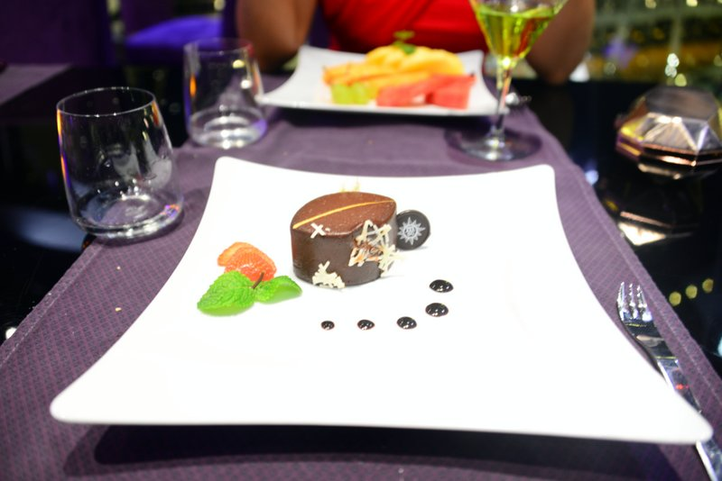 Food at Galaxy, a speciality restaurant on MSC Preziosa's 16th floor
