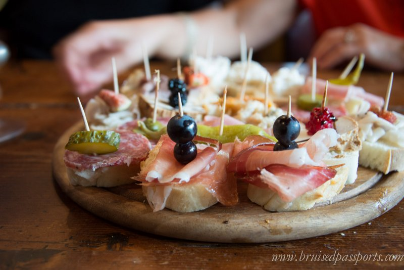 food on the jewish ghetto food and wine tour in Venice