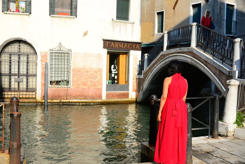 Red Maxi Dress Cruise Travel fashion