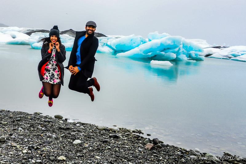 Jumping at Iceland Glacier