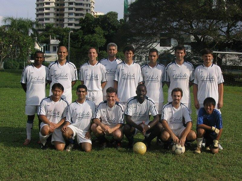 Vid's football club in Singapore :-)