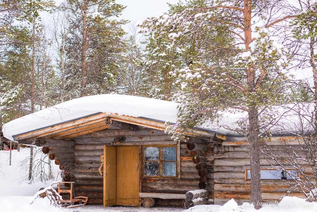 log cabin at Kakslauttanen Arctic Resort, Lapland, Finland