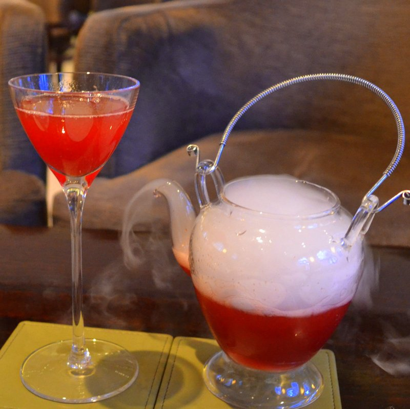 Magic cocktail at One Aldwych Hotel, London