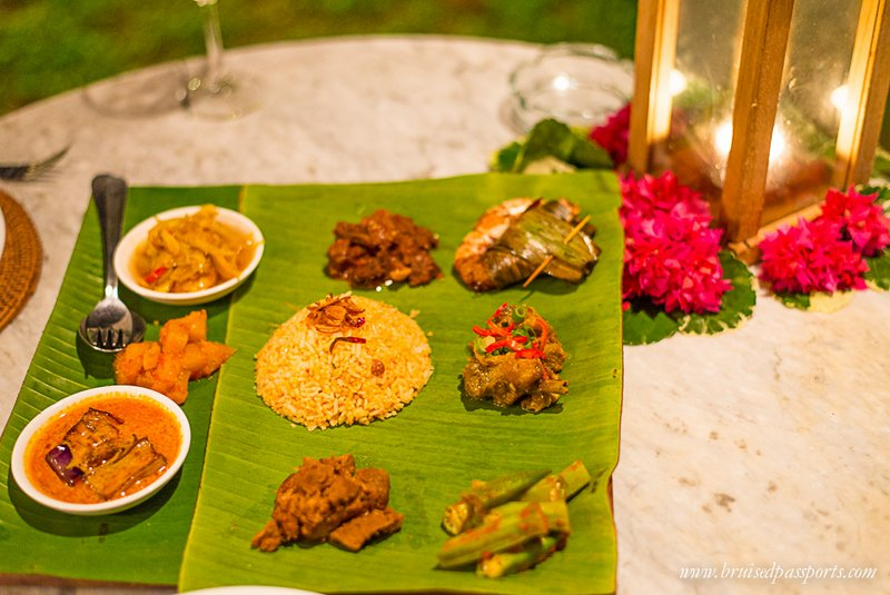 Nyonya Platter at Nam Restaurant Bon Ton Resorts