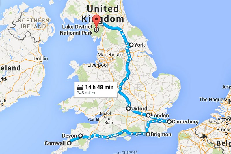 Perfect Itinerary for a Road Trip in England
