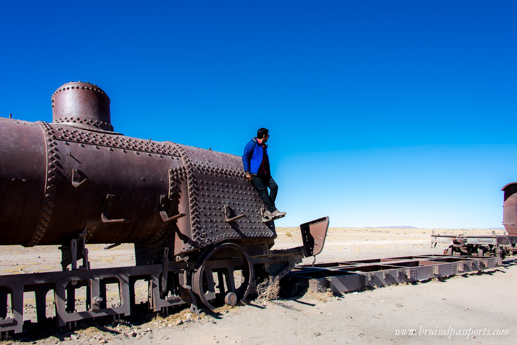 Train cemetery in Salar De Uyuni