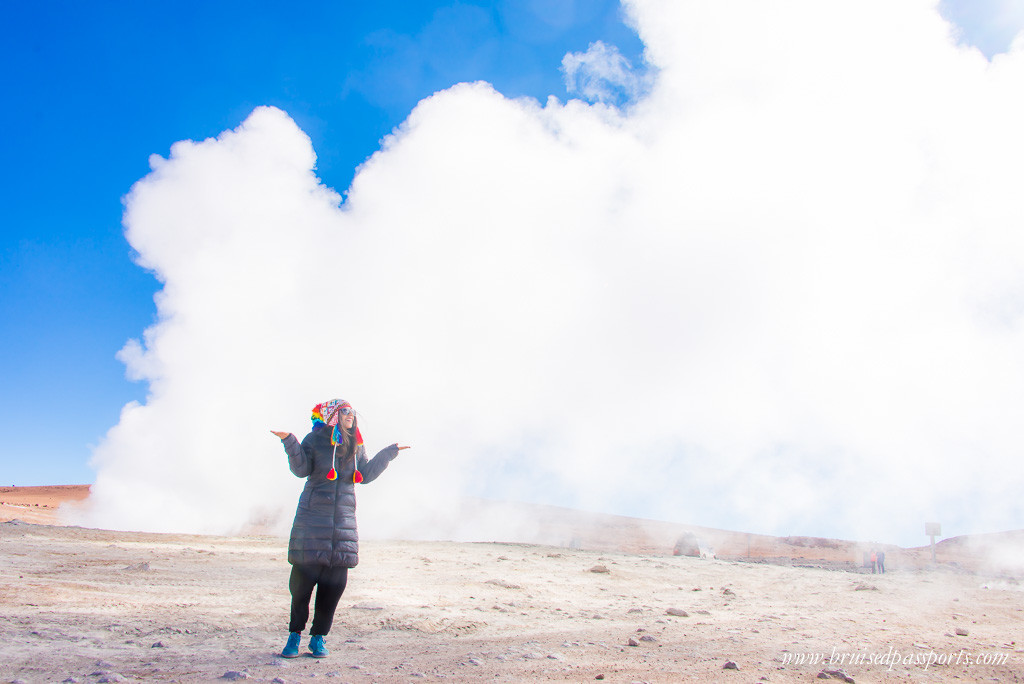 Geysers in the Bolivian desert