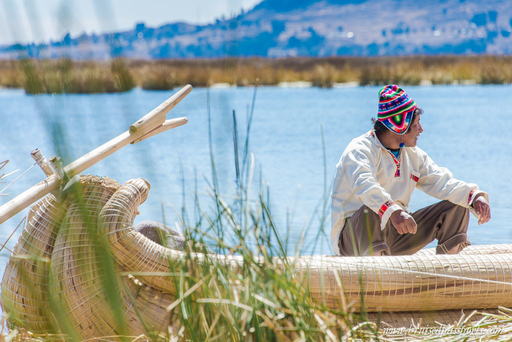 Lake Titicaca Uros Islands Boatman