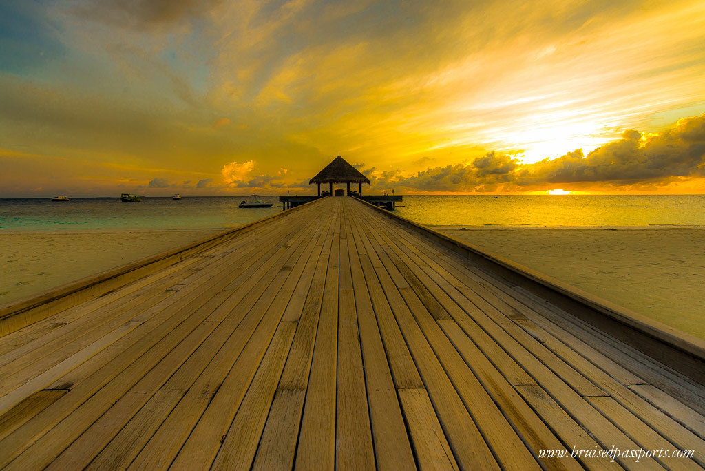 Outrigger Konotta Maldives Resort sunrise