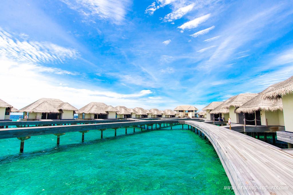 Overwater villas in Maldives