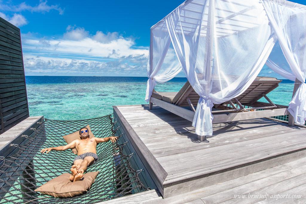 Men's swim shorts travel fashion in Maldives