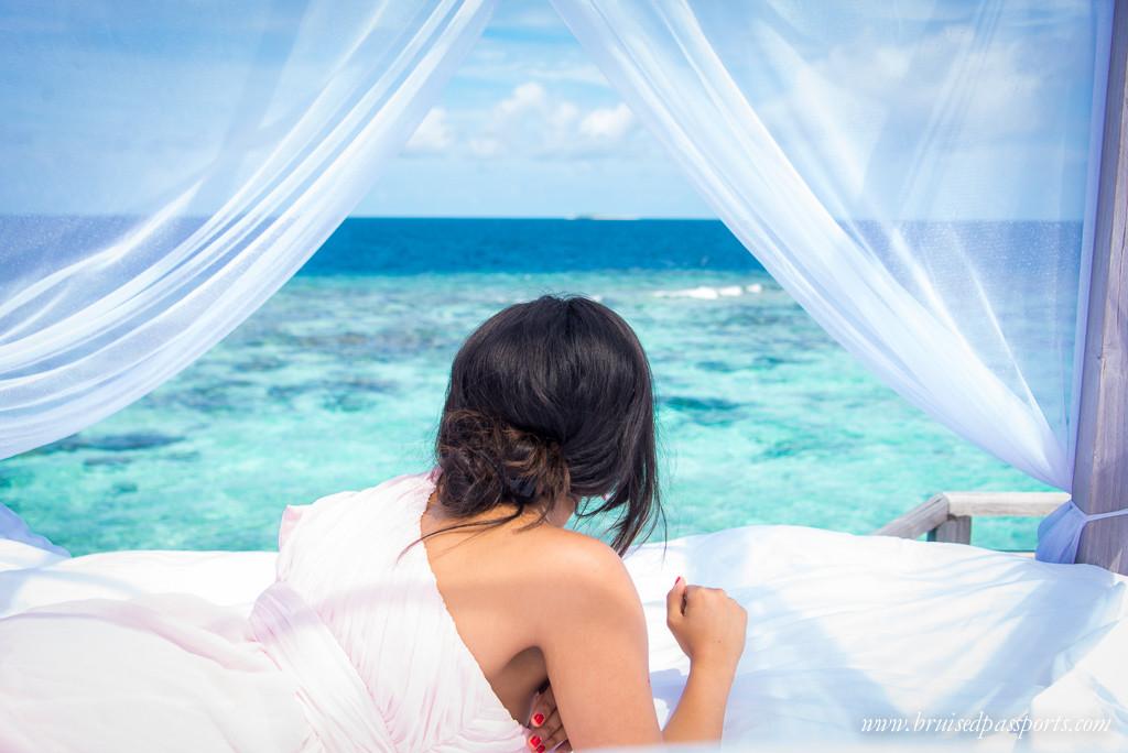 Outrigger Konotta Maldives overwater villa gazebo