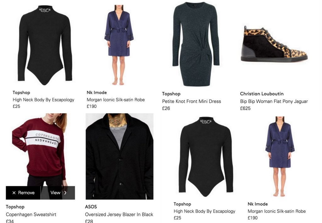 Creating wishlists based on my choices and recommendations by Lyst :)