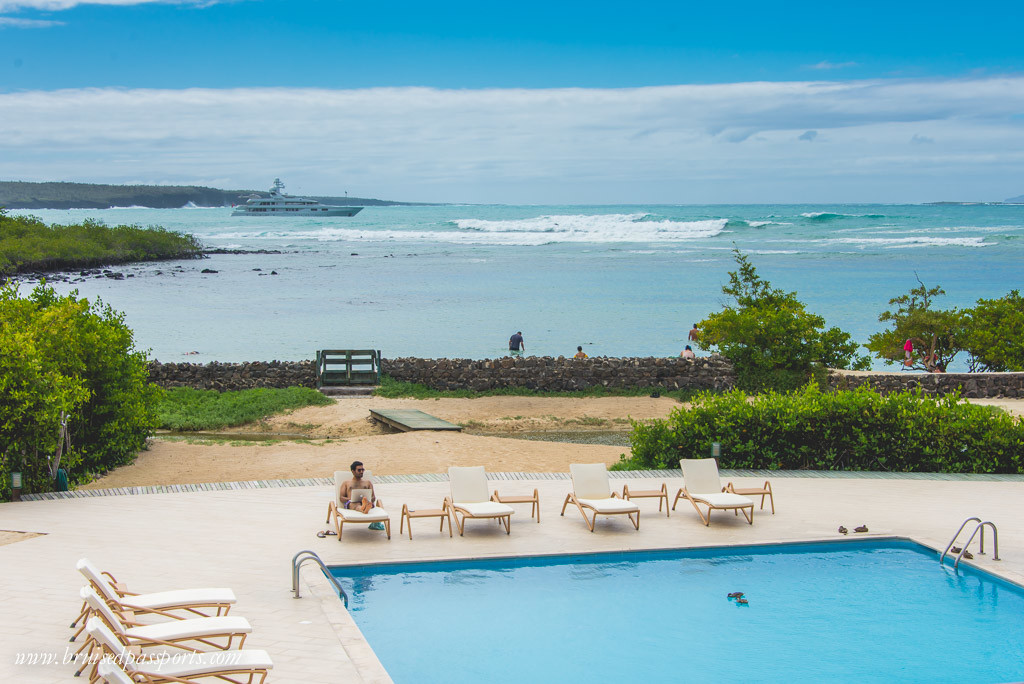 Pool at finch bay hotel Galapagos