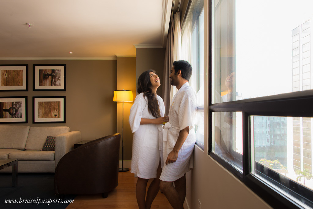 Couple in suite at Hotel Oro Verde Guayaquil Ecuador