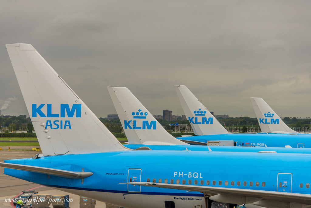 KLM Amsterdam aircrafts at Schipol