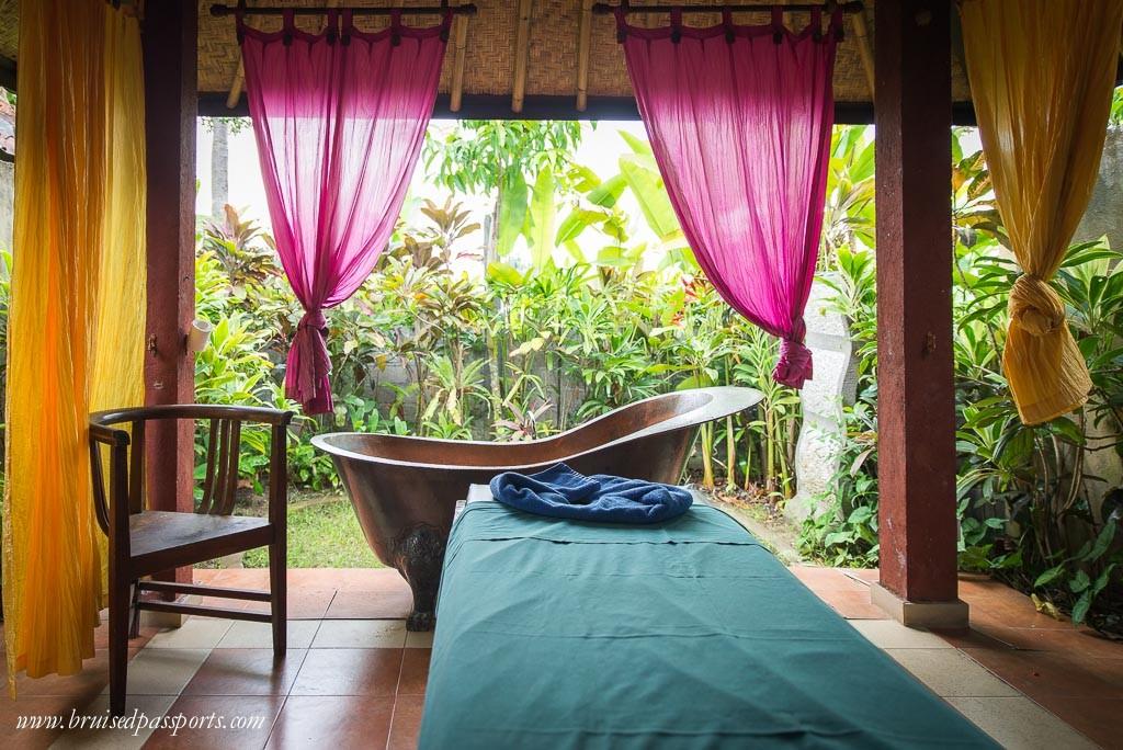 Massage room at Sedona Spa Ubud