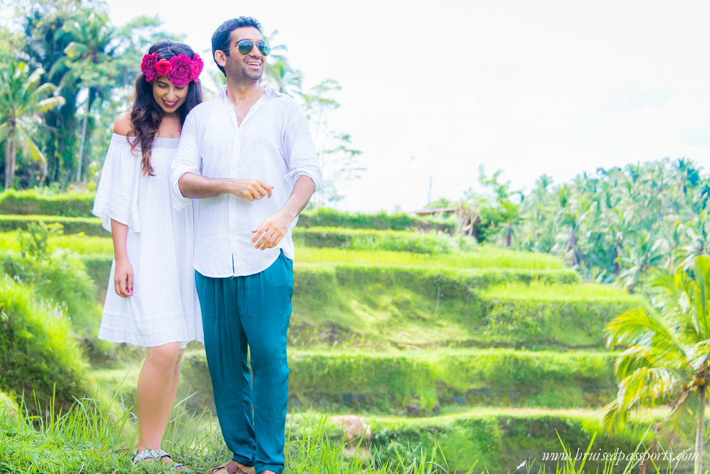 couple in Rice terrace ubud bali