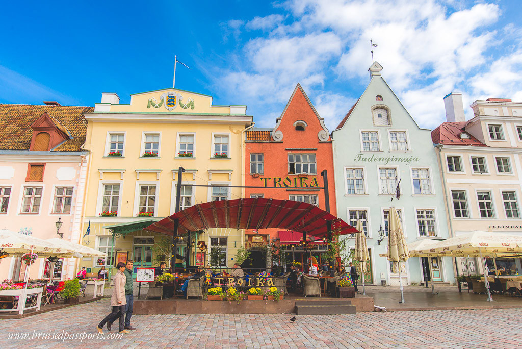 The old town of Tallinn Estonia on a roadtrip of Baltics