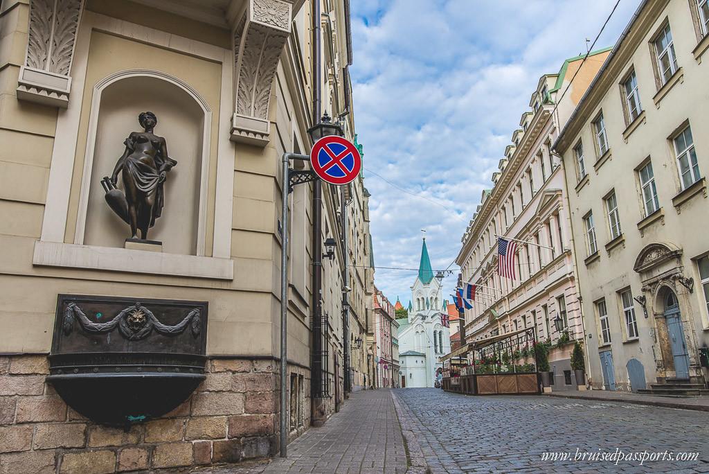 Baltics riga latvia streets