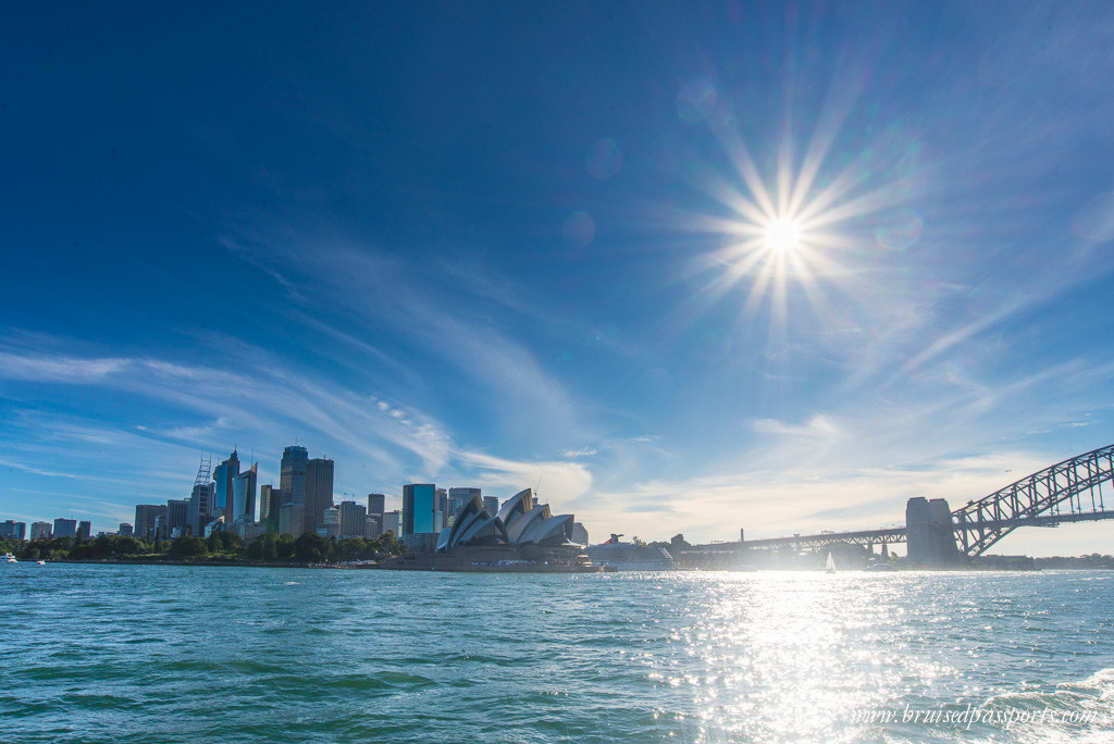View from the Manly Ferry Sydney Autralia