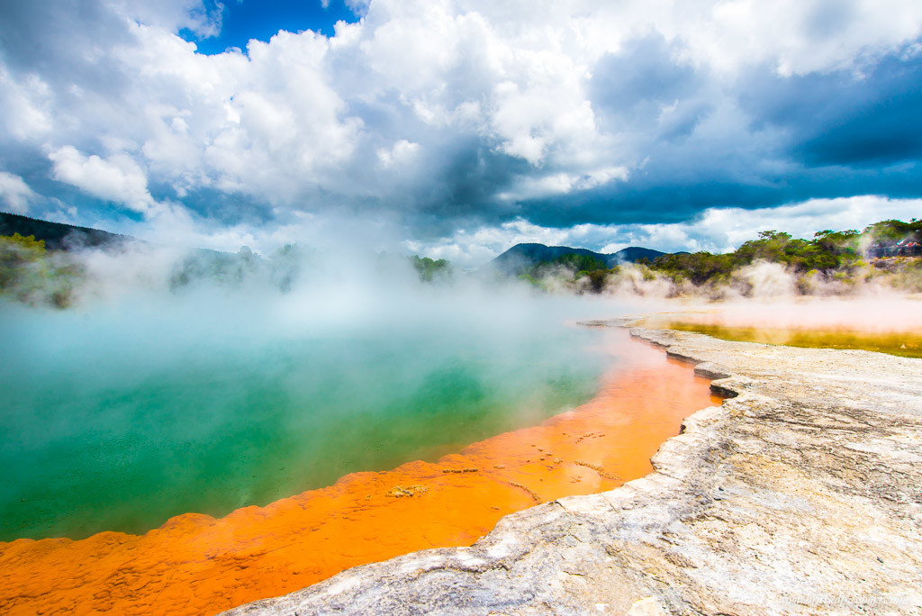 New Zealand Road Trip Itinerary rotorua geothermal park