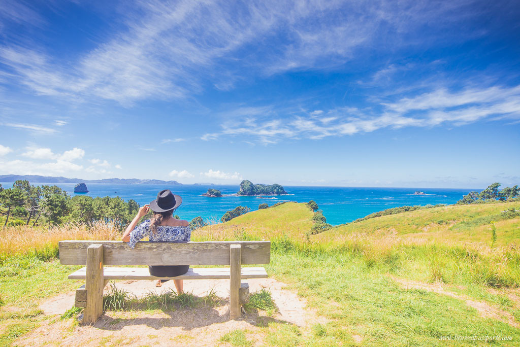 New Zealand road trip itinerary Cathedral Cove Coromandel Peninsula